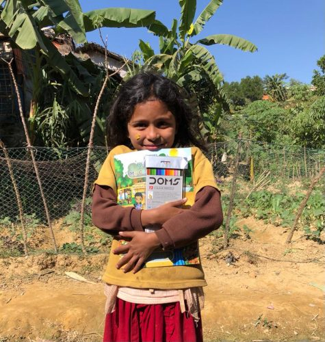 Coloring books for refugees