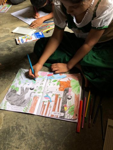 Coloring competition in the Rohingya refugee camps.